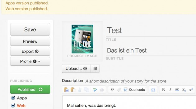 Test: Creatavist, das universelle Publishing-Tool für eBook, App, Web