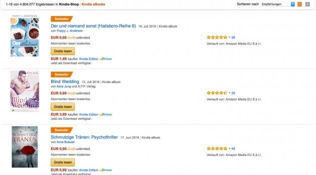 Wie die Charts, Rankings und Bestsellerlisten bei Amazon funktionieren