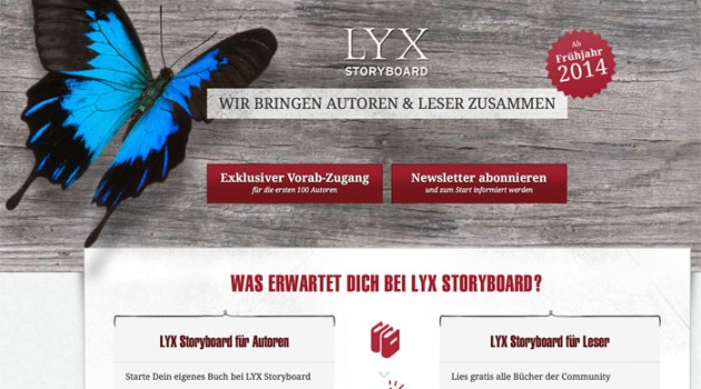 Selfpublishing-Plattform Lyx Storyboard geht in Bookrix auf
