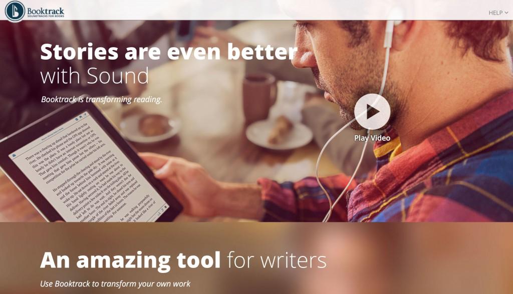 Die Booktrack-Homepage