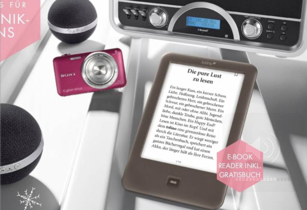 eReader-News: Wie von einer Tchibo-Weihnachtsaktion der lokale Buchhandel profitiert