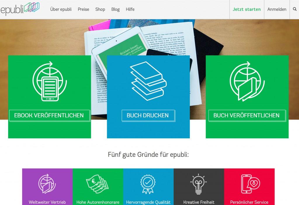 Die Homepage von ePubli