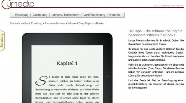 Neuer Service: Initialen für Ihr E-Book