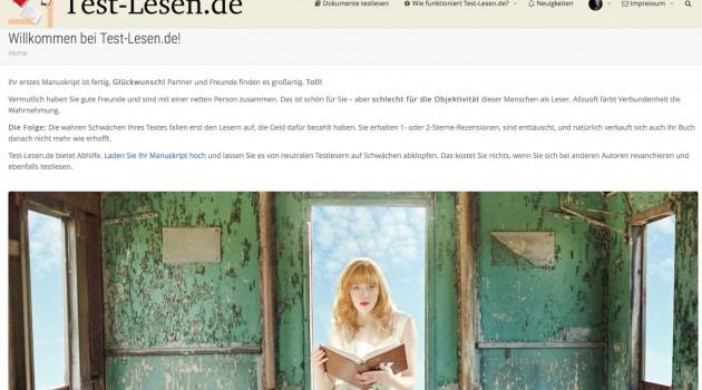 Neuer Service: Lassen Sie bei Test-Lesen.de Ihre Manuskripte probelesen