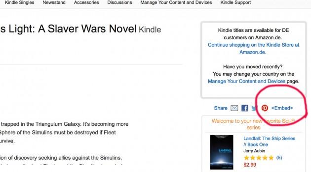 Amazon-eBooks hübscher in eigene Webseiten einbinden – neue Embedding-Option