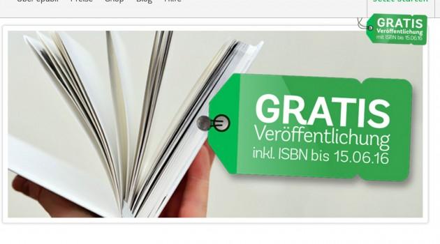 Anbieter-News: ePubli ab sofort mit kostenloser ISBN (Update)