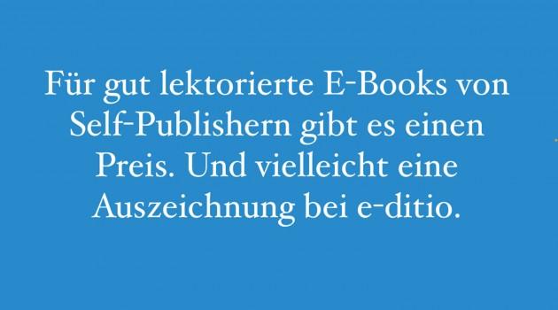 Lektoratspreis für selbst publizierte Bücher – Bewerbungsschluss 6. Juni