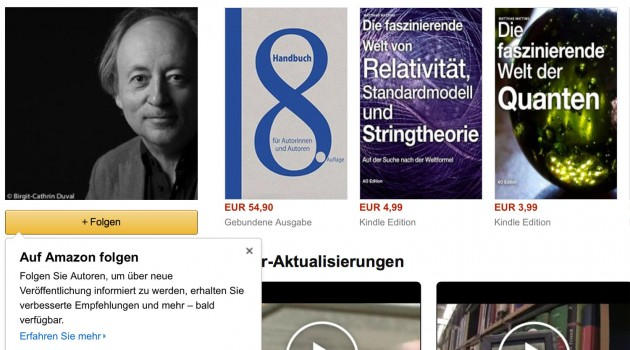 """Autoren-Tipp: """"Autor folgen""""-Button bei Amazon jetzt aktiv [Update]"""