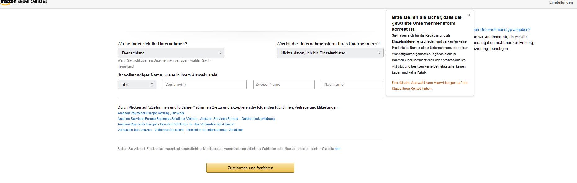 Amazon Verkaufen Einzelanbieter
