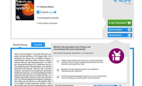 Autoren-Tipp: eBooks direkt über den eBook-Store verschenken und verschenken lassen