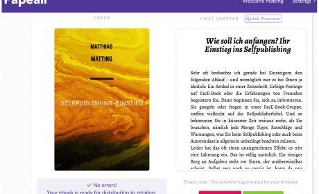 Ausprobiert: mit Papeair hübsche eBooks im Browser herstellen