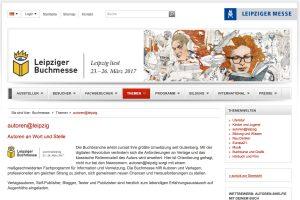 Für Selfpublisher interessante Veranstaltungen auf der Leipziger Buchmesse am 25./26. März