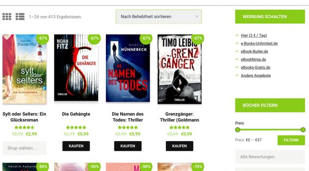 Marketing-Tipp: ein neues Gesicht für eBook-Rabatte.de und e-Books-Unlimited.de