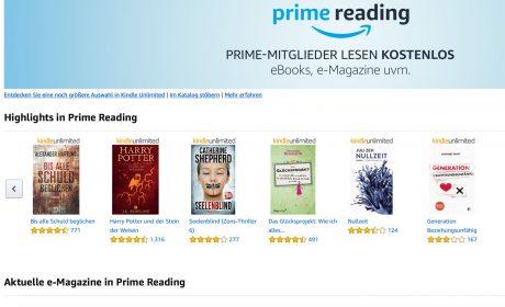 Amazon-Tipp: Was Sie als Autor/in über Amazon Prime Reading wissen müssen