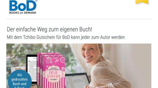 Tchibo verkauft Gutscheine für Selfpublishing bei BoD