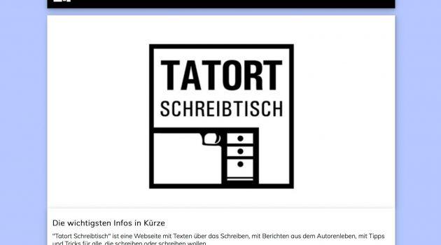 Ambitioniertes Weiterbildungsprogramm für Schreibende: Tatort Schreibtisch