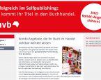 Börsenvereins-Tochter MVB erstmals mit Angeboten speziell für Selfpublisher