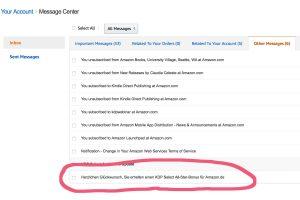 Praxis-Tipp: E-Mail von Amazon – wo ist die Nachricht geblieben?