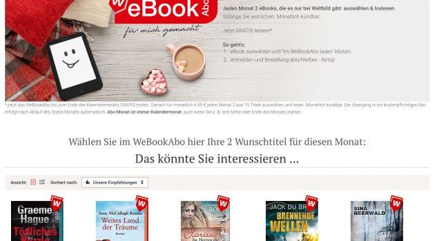 Weltbild startet eigenes E-Book-Abo