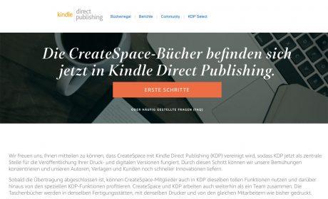 CreateSpace macht zu: Wie Sie Ihre Titel zu KDP Print übertragen