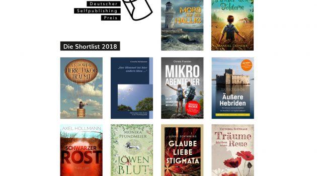 Deutscher Selfpublishing-Preis 2018: Die Shortlist ist da