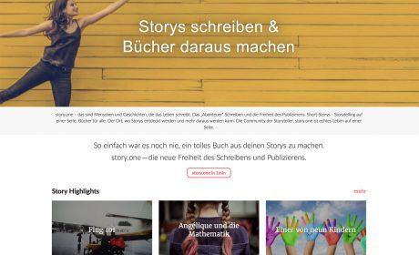 Neuer Selfpublishing-Anbieter mit  sehr spitzer  Zielgruppe: Story.One