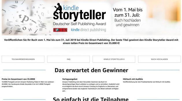 Amazons Storyteller-Award geht in die nächste Runde