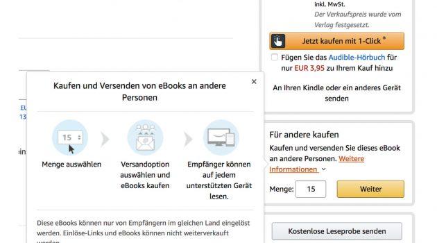 Neu bei Amazon.de: E-Books verschenken – was das für Selfpublisher bedeutet