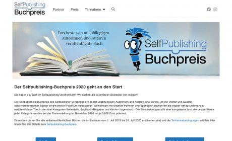 Selfpublishing-Buchpreis des Selfpublisher-Verbands geht an den Start
